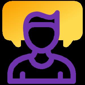 Bilingual receptionists icon